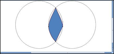 Manually move the points of your square to fill in the overlapping piece of your venn diagram