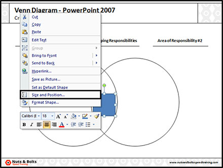 Right click your square and find the size and position dialog box command