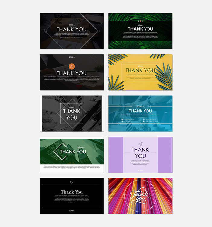 Thank you slides free PowerPoint template by 24Slides