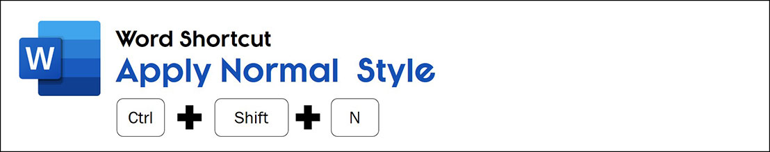 The normal style shortcut in Word is control plus shift plus N