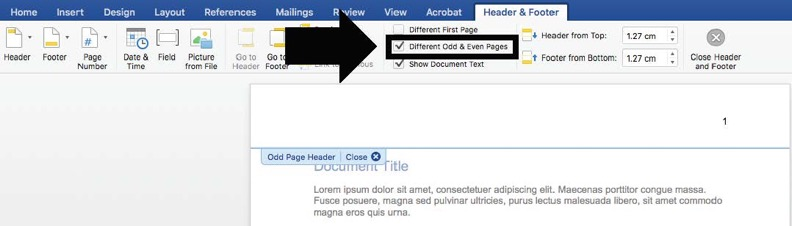 Select odd and even pages
