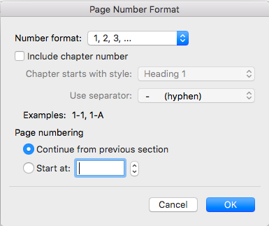 Page Number Format Box to add pages numbers in word