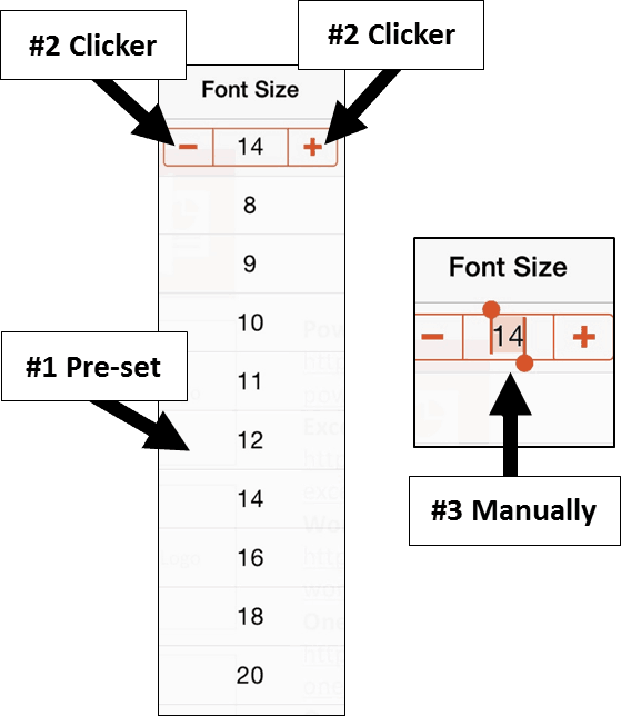 PowerPoint for iPad #3 Font Size Options