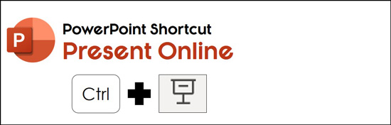 Hold control and the click the slide show icon to open present online service