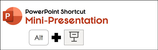 Hold the Alt key and click the slide slide show icon to run a mini-presentation in PowerPoint