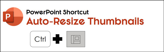 Hold control plus click the normal icon to auto resize your thumbnails using the normal icon hidden PowerPoint shortcut