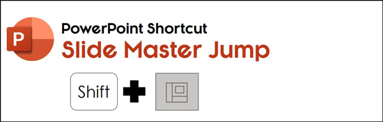 Hold shift and click the normal icon to use this hidden PowerPoint shortcut to jump to your slide master view