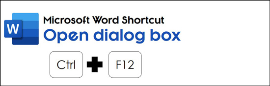Hit Control plus F12 to launch the Open dialog box