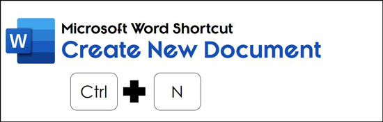 Hit control plus N on your keyboard to open a new blank Word document